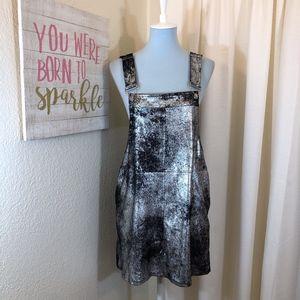 dcb98854c Blank NYC Dresses | Metallic Mini Overalls Dress Skirt Nwt | Poshmark
